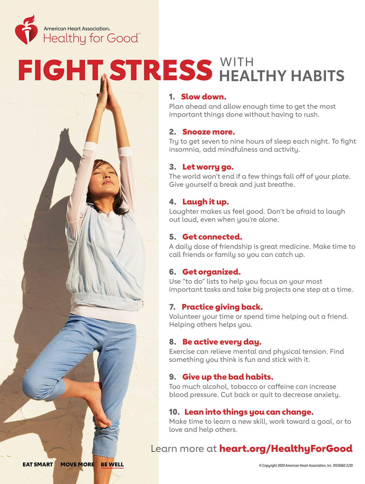 Fight Stress with Healthy Habits infographic