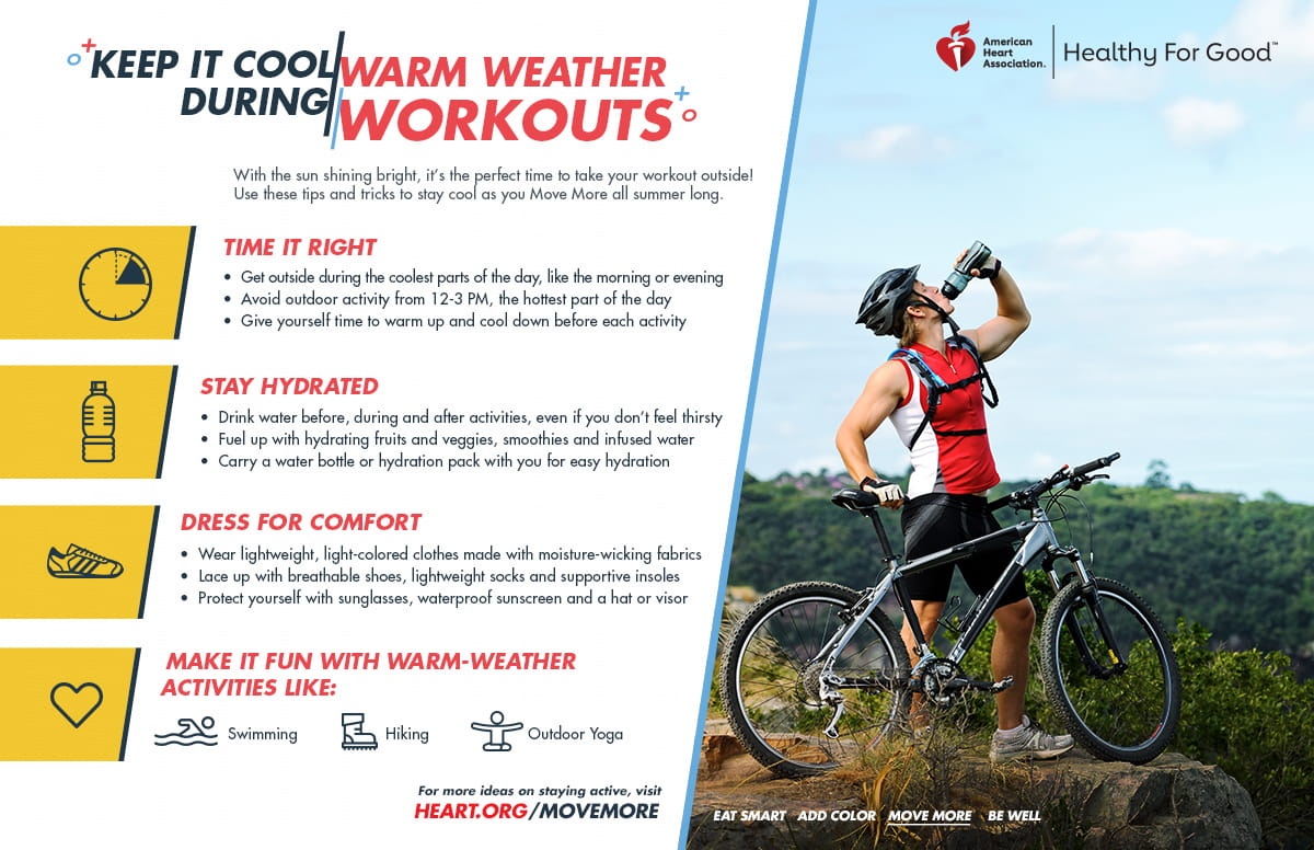 Keep it cool during warm weather workouts