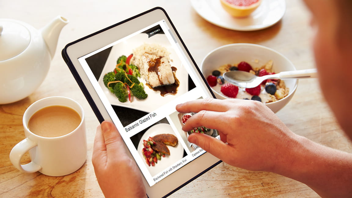 meal planning using a tablet