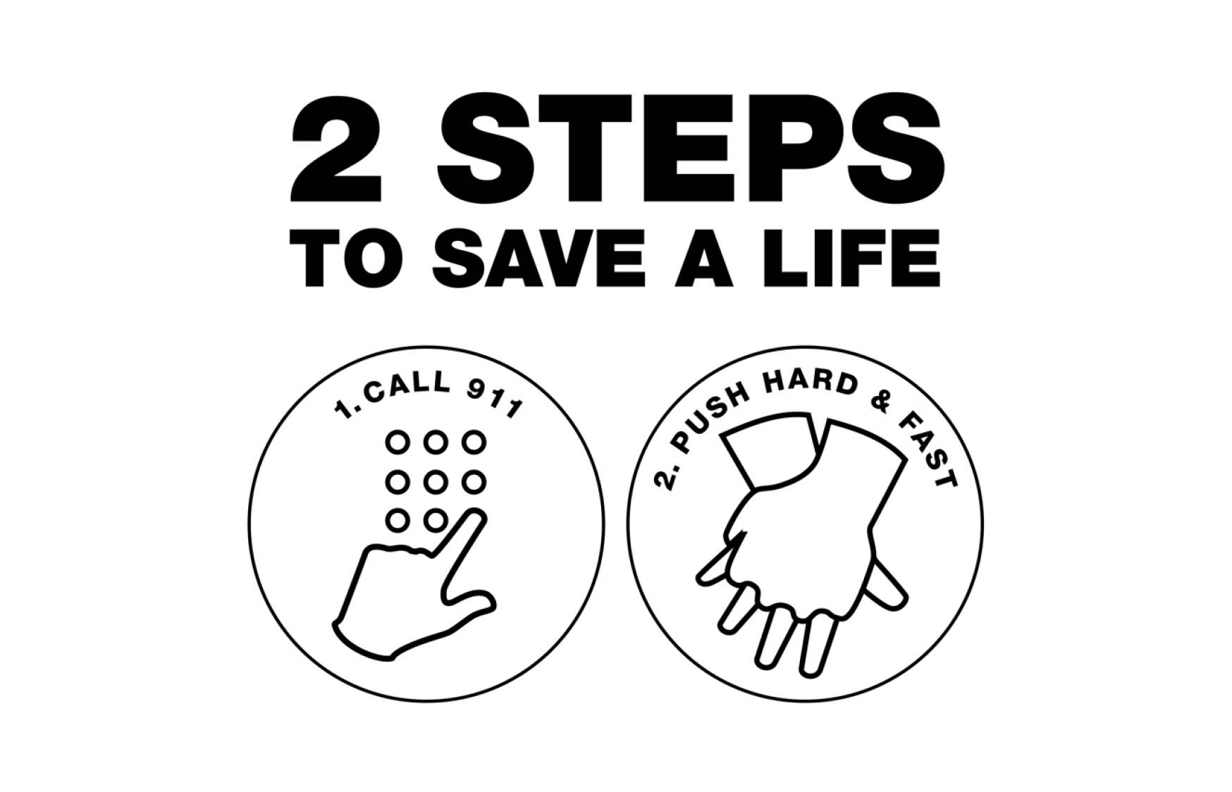 2 STEPS to save a life