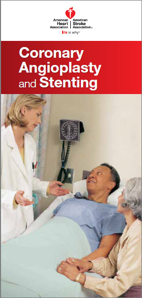 Coronary angioplasty and stenting brochure cover