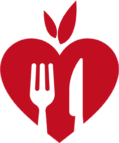heart-shaped healthy eating icon