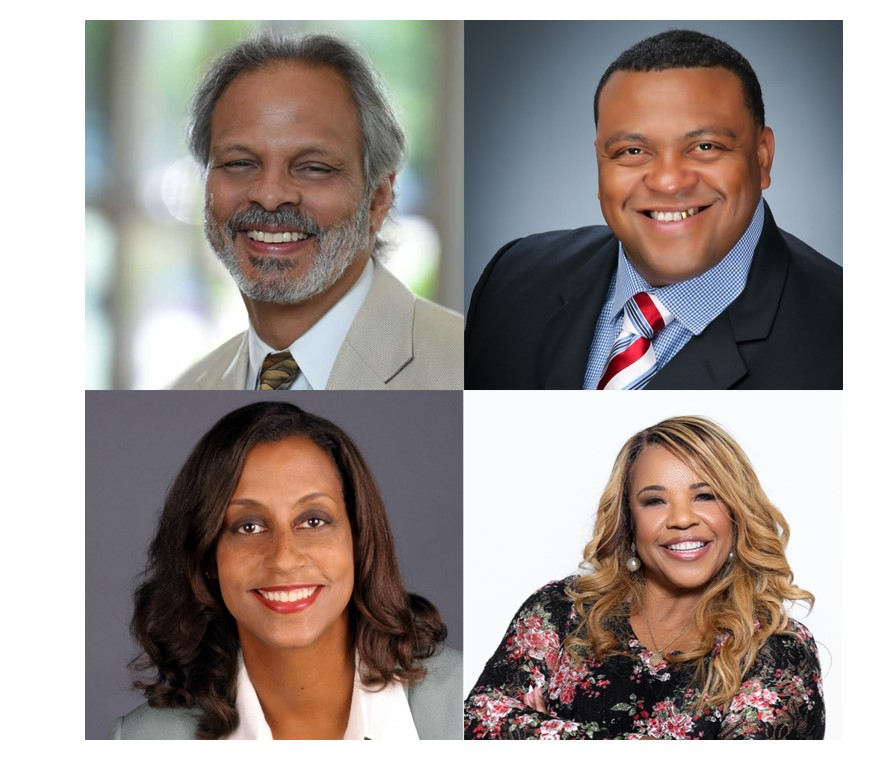 2nd Town Hall Speakers Dr. Eduardo Sanchez, Dr. Jennifer Ellis, Pastor Sonja Dickerson and Pastor Hosea Collins