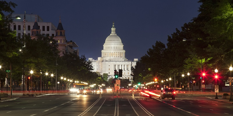 US Capital at night