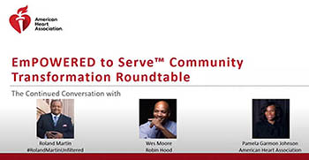 Community Transformation Roundtable 2 Nov 17 with participants Roland Martin Wes Moore and Pamela Garmon Johnson