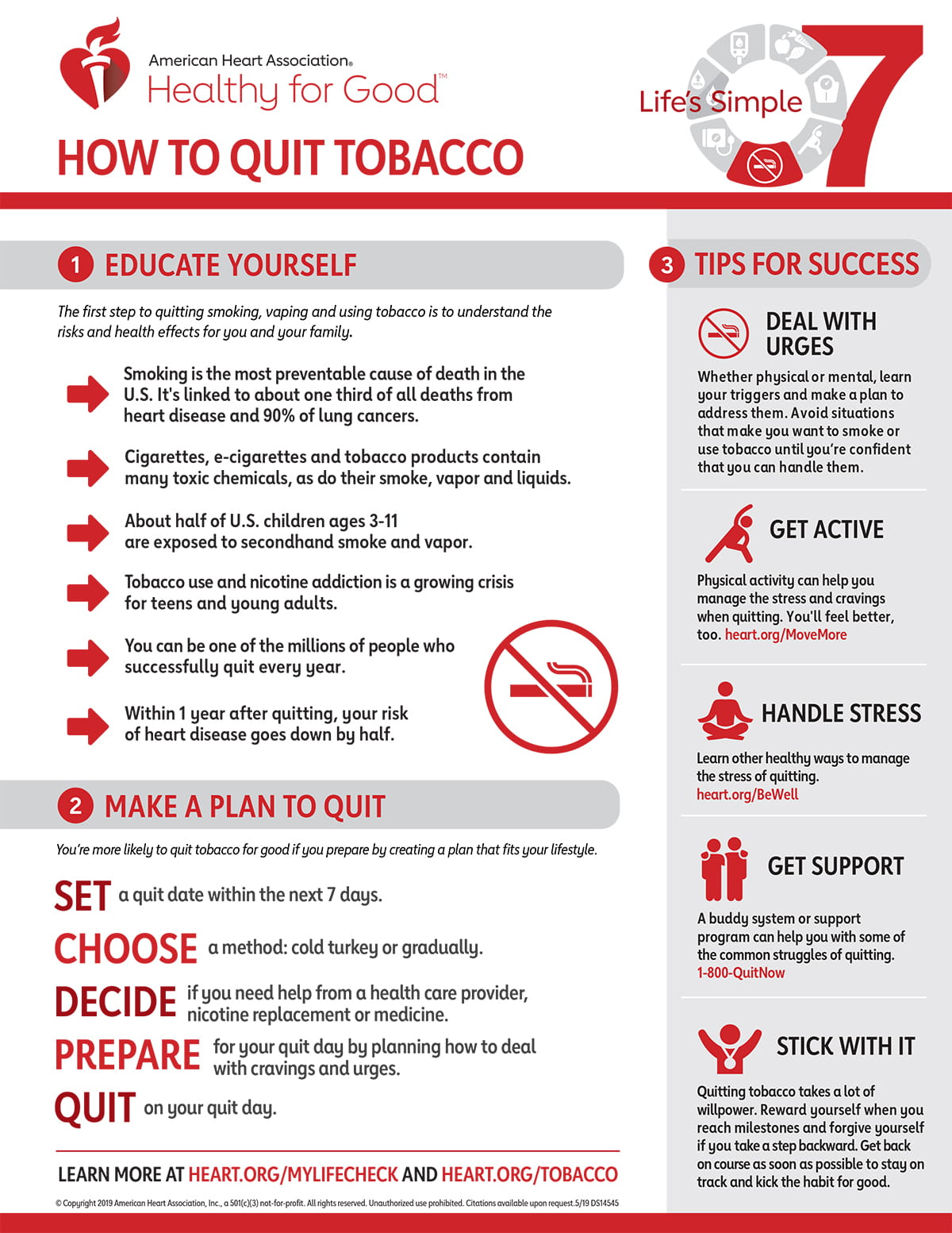 Life's Simple 7 Quit Smoking Infographic