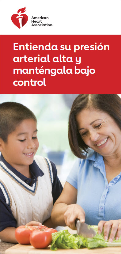 Understanding and controlling high blood pressure Spanish brochure cover