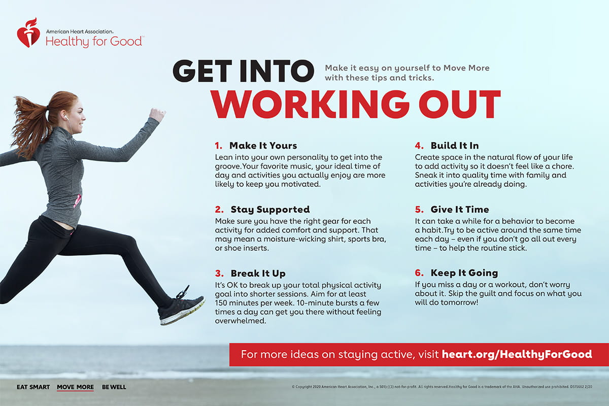 Get into working out infographic