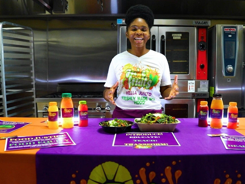 Bria Hutson is the owner of a plant-based eatery she founded with the help of Mandela Partners in Oakland, California. (Photo courtesy of Bria Hutson)